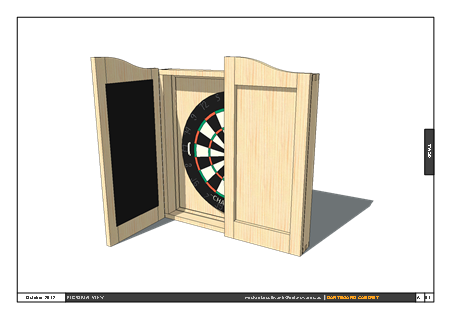 Wood Dartboard Cabinet Plans PDF Download how to make a ...